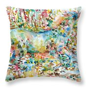 Horse Painting.20 Throw Pillow