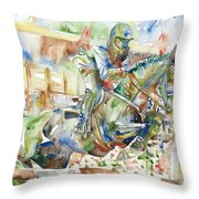 Horse Painting.21 Throw Pillow