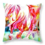 Horse Painting.22 Throw Pillow