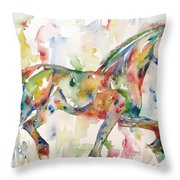 Horse Painting.23 Throw Pillow