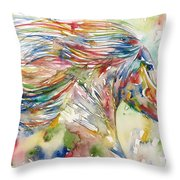 Horse Painting.24 Throw Pillow