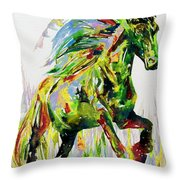 Horse Painting.26 Throw Pillow