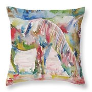 Horse Painting.27 Throw Pillow