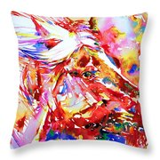 Horse Painting.28 Throw Pillow
