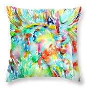 Horse Painting.29 Throw Pillow