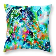 Horse Painting.30 Throw Pillow