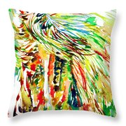 Horse Painting.31 Throw Pillow