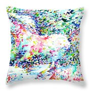 Horse Painting.32 Throw Pillow