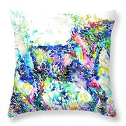 Horse Painting.33 Throw Pillow