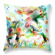 Horse Painting.36 Throw Pillow