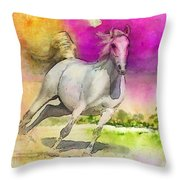 Horse Paintings 007 Throw Pillow