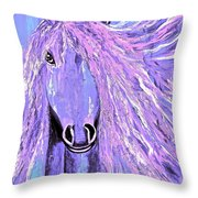 Horse Pale Purple 2 Throw Pillow