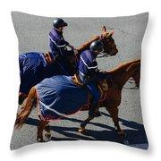 Horse Police Throw Pillow