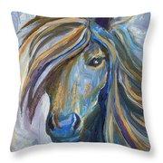 Horse Portrait 102 Throw Pillow