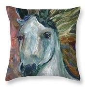Horse Portrait 103 Throw Pillow