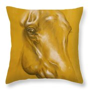 Horse Portrait Throw Pillow by Tamer and Cindy Elsharouni