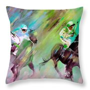 Horse Racing 04 Throw Pillow