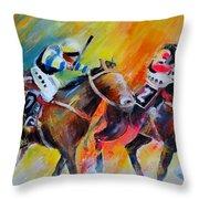 Horse Racing 05 Throw Pillow