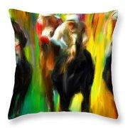 Horse Racing IIi Throw Pillow