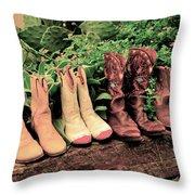 Horse Riding Boots Throw Pillow