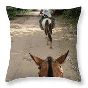 Horse Riding Throw Pillow