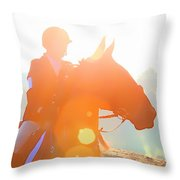 Horse Show Flares Throw Pillow