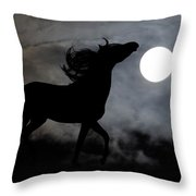 Horse Silhoette Throw Pillow