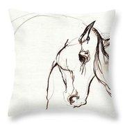 Horse Sketch Throw Pillow