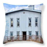 Horse Stable Throw Pillow