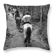 Horse Trail Throw Pillow by Frozen in Time Fine Art Photography