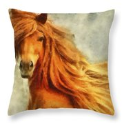 Horse Two Throw Pillow