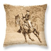 Horseback Soldier Throw Pillow