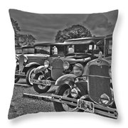 Horseless Carriages Throw Pillow