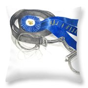 Horseless Rider Throw Pillow