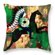 Horseman Throw Pillow