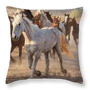 Horses 7 Throw Pillow