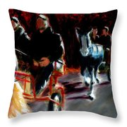 Horses And Carriages Throw Pillow