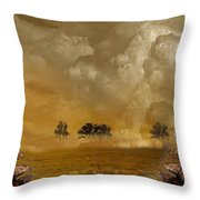 Horses And Clouds Throw Pillow