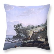 Horses Crossing A River, 1812-13 Throw Pillow
