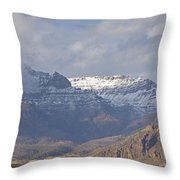 Horses In North Fork Canyon   #4876 Throw Pillow