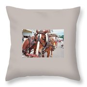 Horses Throw Pillow