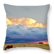 Horses On The Storm Throw Pillow