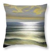 Horses Over Sea Throw Pillow