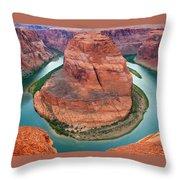 Horseshoe Bend Arizona Throw Pillow