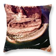 Horseshoe Bend Boat Race - Page Arizona Throw Pillow