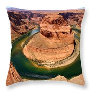 Horseshoe Bend - Nature's Awesome Work Throw Pillow