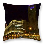 Horseshoe Casino Cleveland Throw Pillow