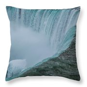 Horseshoe Falls Ice Formations Throw Pillow