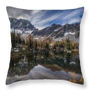 Horseshoe Lake Cloud Dramatic Throw Pillow