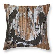 Horseshoe Print Wood Throw Pillow